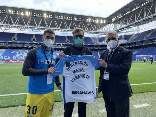 Málaga, detalle del club para la familia de Manel Casanova