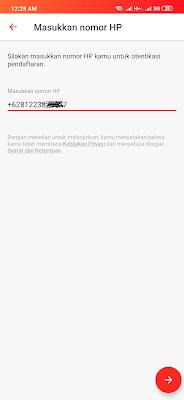 cara mendaftarkan nomor hp dari aplikasi dent android