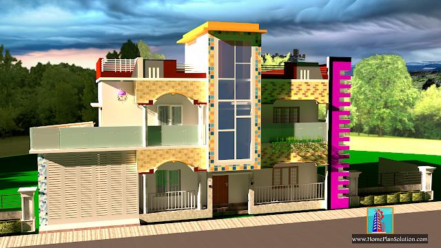 49 x 52 ft.House Plan | Duplex House Plans | House Design  Ghar Ka Naksha  | House Plan Idea | HomePlanSolution.com