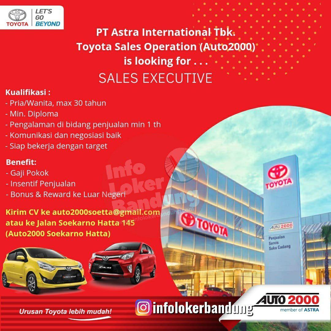 Lowongan Kerja PT. Astra International Tbk. - Toyota Sales Operation (Auto2000) Bandung Novemeber 2019