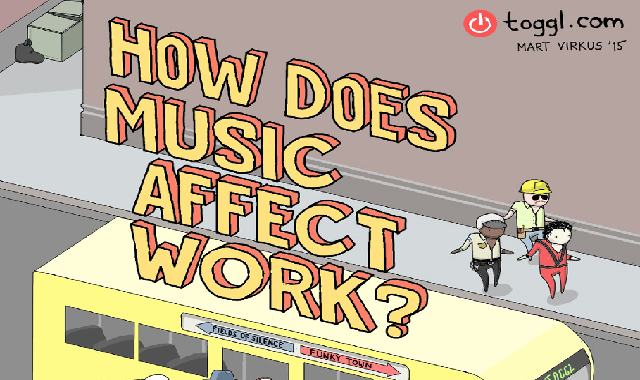 How Does Music Affect Work? #infographic