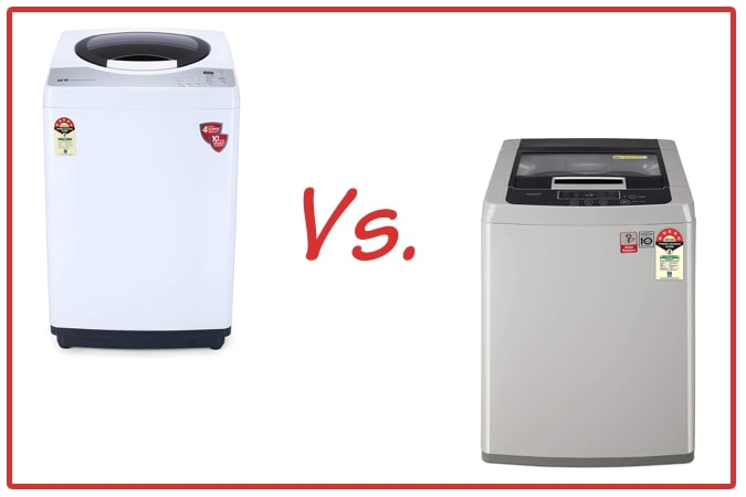 IFB REWH (left) and LG T70SKSF1Z (right) Washing Machine Comparison.