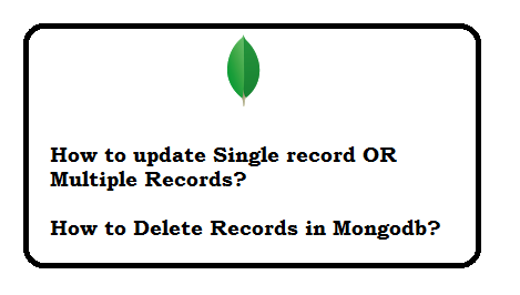 MongoDB update and delete records with examples