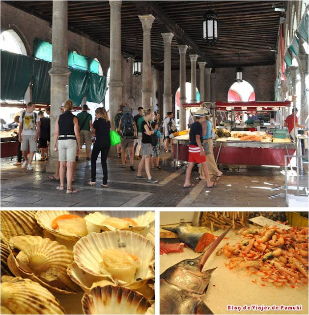 En el mercado de pescados de Venecia se puede palpar la vida local.