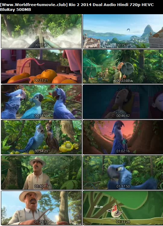 Screen Shoot of Rio 2 2014 Dual Audio Hindi 720p BluRay HEVC 500MB