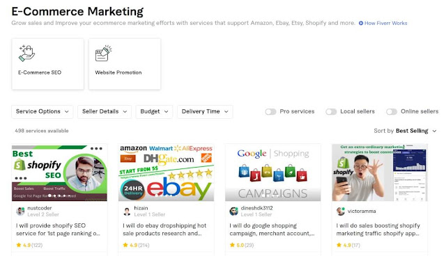 ecommerce marketing on fiverr