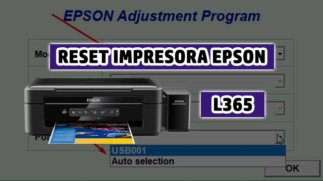 Reset almohadillas de la impresora EPSON L365