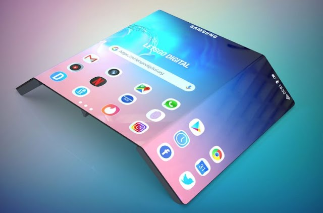 Samsung is working on a foldable smartphone in three, it is confirmed