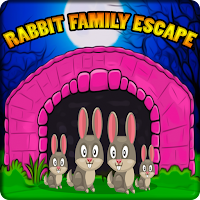 Cute Rabbit Family Escape