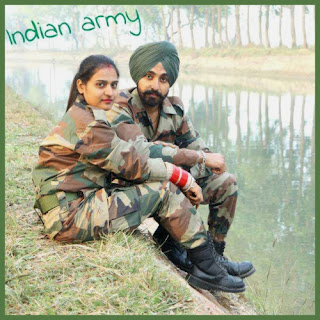 Cute Indian Army Couple Picture