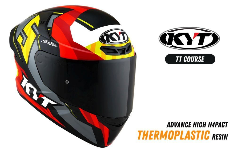 KYT TT Course Thermoplastic Shell
