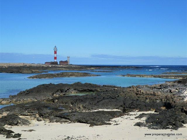 Faro del Tostón y los charcos de Fuerteventura