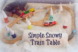 Simple Snowy Train Table