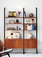 Mid-century bookshelf with nifty design