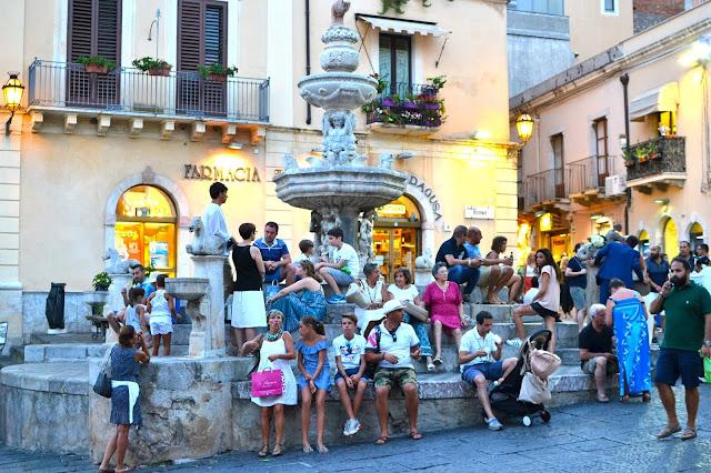 taormina sicilia italia a golpe de objetivo