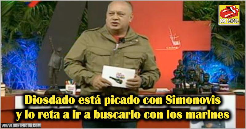 Diosdado está picado con Simonovis y lo reta a ir a buscarlo con los marines