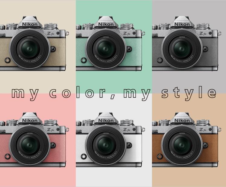 Шесть цветов корпуса Nikon Zfc