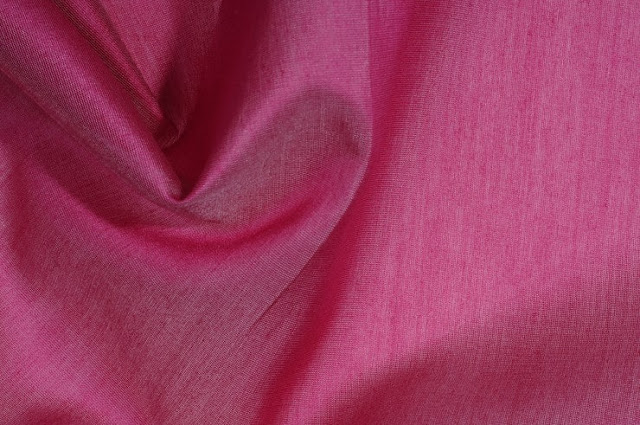 Rasberry Wine Cotton Silk Fabric