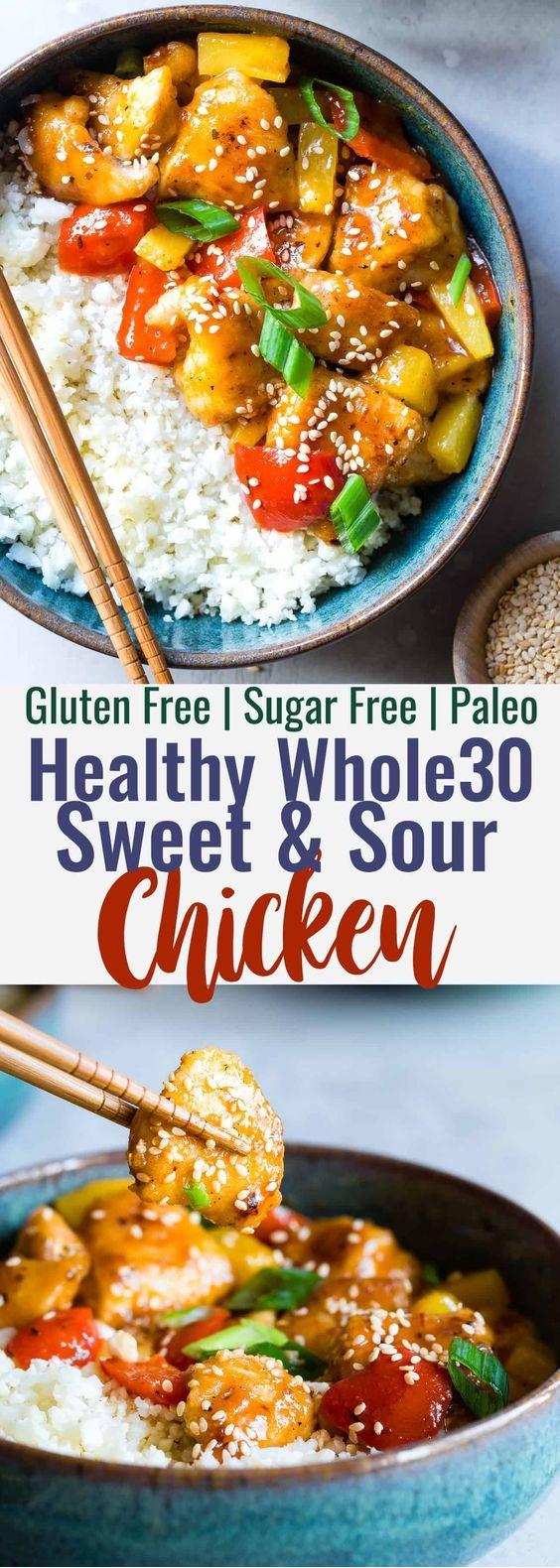 Paleo Gluten Free Healthy Sweet And Sour Chicken