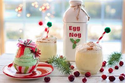 Cheerful Christmas egg-nog