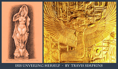 Isis Unveiling Herself. Ancient Egyptian Goddess. by Travis Simpkins
