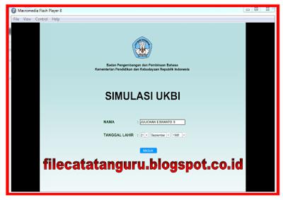Download Software simulasi Uji Kompetensi Berbahasa Indonesia bagi semua guru