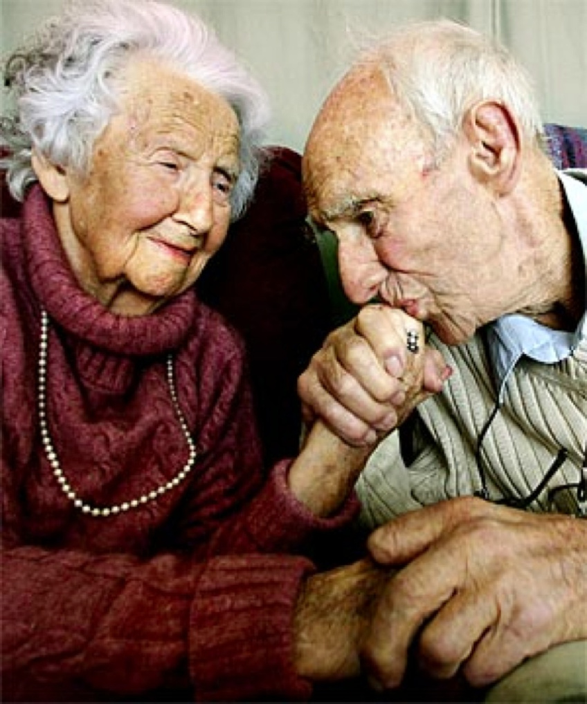 OLD Couple Images on National Senior Citizen's Day August 21