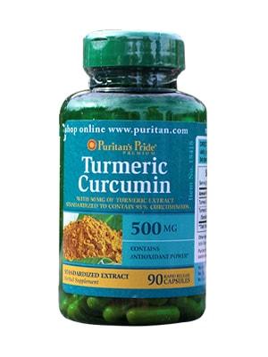 Viên uống tinh bột nghệ Turmeric Curcumin 500mg 180 viên