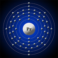 Praseodim atomu elektron kabuk modeli