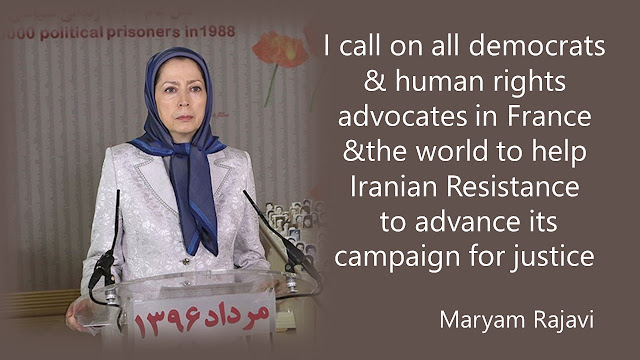 MESSAGE BY MARYAM RAJAVI TO PARTICIPANTS IN THE PARIS 1ST DISTRICT EXHIBITION ON THE MASSACRE OF 30,000 POLITICAL PRISONERS IN IRAN