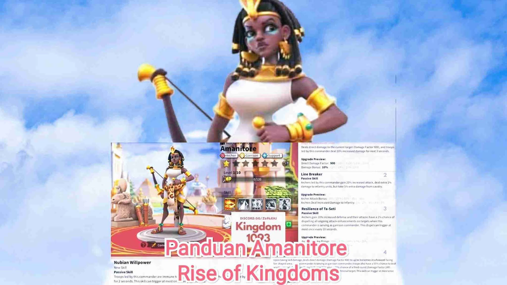 amanitore rise of kingdoms talent tips pair