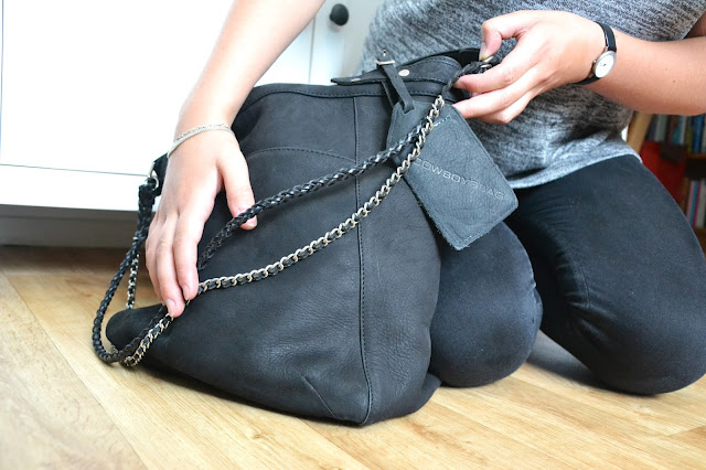 DIY Upcyle bag handbag chains fashion update