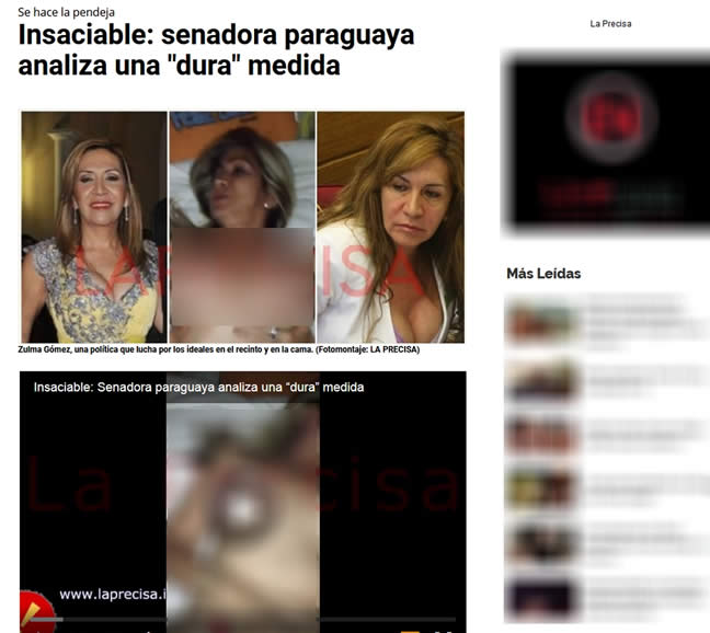 Video de la senadora paraguaya Zulma Gómez