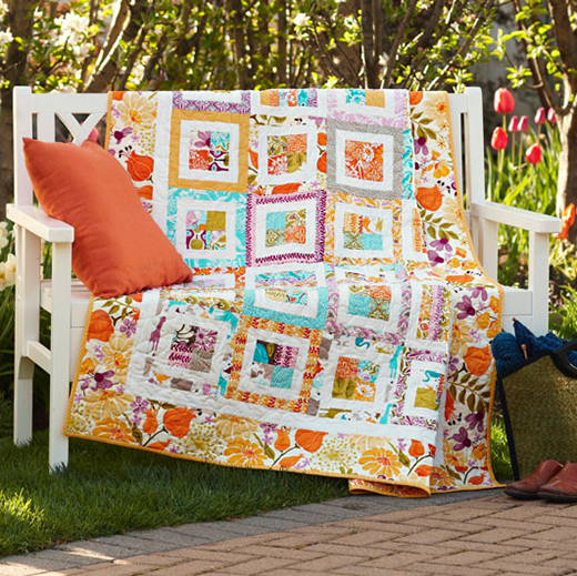 Garden Party Quilt designed by Sherri McConnell of A Quilting Life for All People Quilt