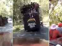 Ini Video Detik-detik Truk Penuh Penumpang Guling di Jurang Pletes Malang Jawa Timur