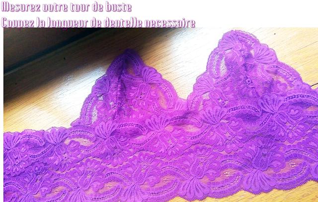 DIY -sew- Bra -Purple -Soutien gorge- Triangle -lingerie