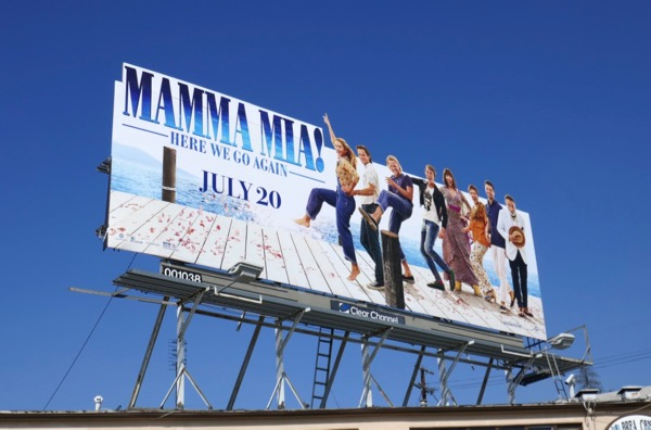 Mamma Mia Here We Go Again extension cut-out billboard