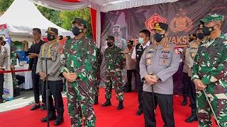 Panglima TNI Bersama Kapolri Tinjau Vaksinasi 2.000 Prajurit TNI dan Polri di Palembang