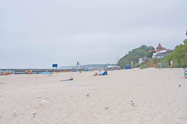 plaża w Niechorzu, strzeżony odcinek przez WOPR