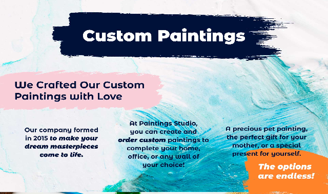 Paintings Studio - We Crafted Our Custom Paintings with Love #infographic