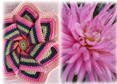 Flor Estrella de Sol de Crochet