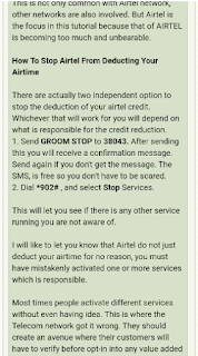stop browsing with airtime on airtel