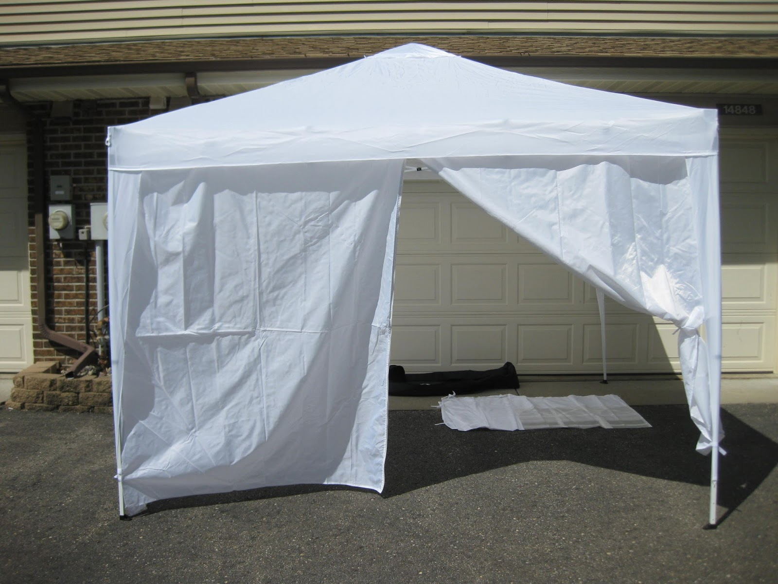 Altogether the canopy tent has worked as designed and expected. Other than how easy it was for the tent to scratch we have no other complaints about the ... & Let Me Review That For You!: White EZ Pop Up Canopy Tent 10 x 10 ...