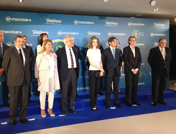 Cucareliquia clutch bag - Queen Letizia of Spain attends the presentation of Telefonica's Platform for the Television contents