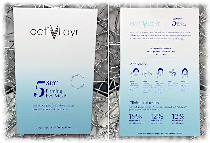 ActivLayr Eye Mask Box front and back