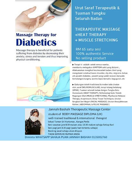 Diabetes, urut saraf ,terapi saraf perlis
