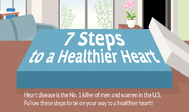 7 Steps to a Healthier Heart #infographic