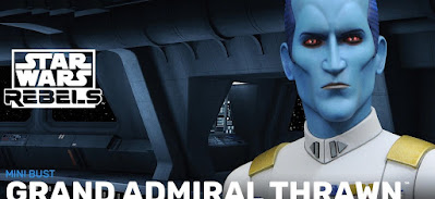 Star Wars: Rebels Grand Admiral Thrawn Animated Mini Bust by Gentle Giant