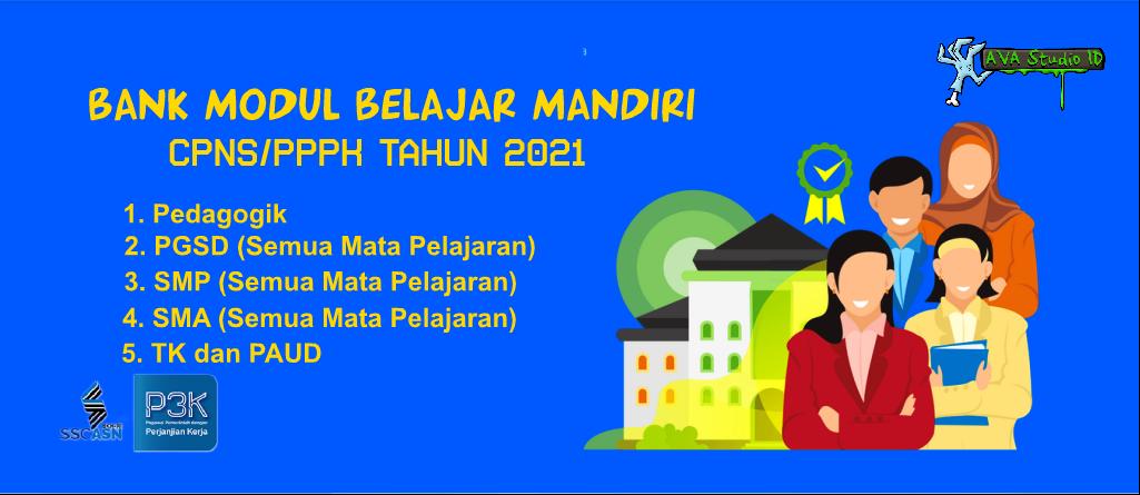 Kumpulan Modul Belajar Mandiri PNS dan PPPK untuk Guru Sekolah/Madrasah Tahun 2021