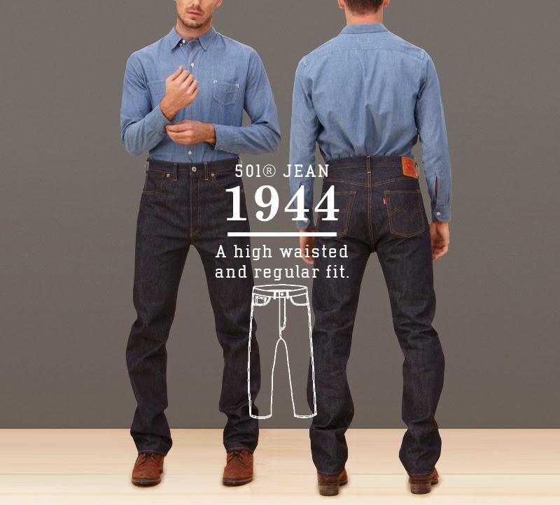 76327a09 esse hominem: Levis 501 jeansens utveckling sedan 1890, bilder ...